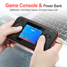 Portable Power Bank Retro Handheld Game Console Video Game Console Player Built in 416 Games 8000mAh Battery Capacity Charger(China)