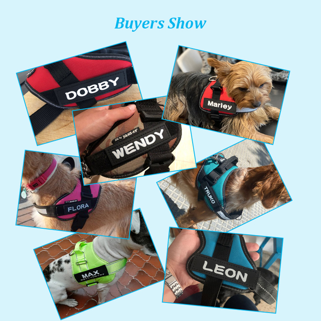 Adjustable Nylon Dog Harness Reflective Dog Collar Personalized Dog Harness and Leash Set Small Medium Large Dog Harness Vest 6