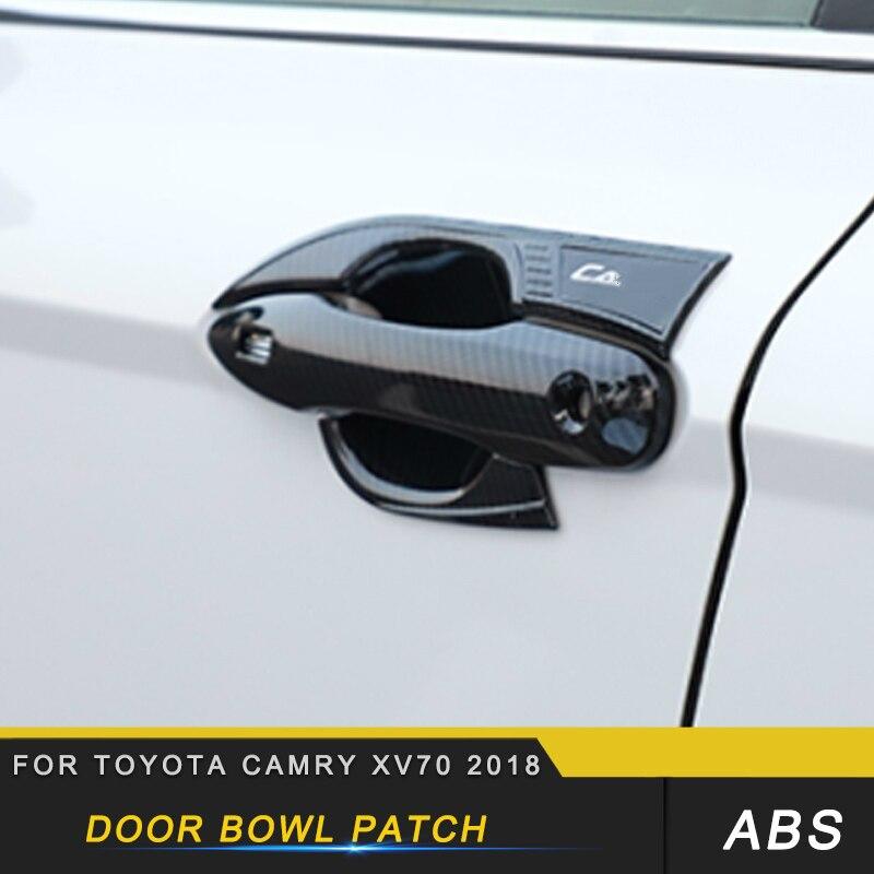Автомобильная дверь чаша патч отделка StickerAccessories для Toyota Camry XV70 2018