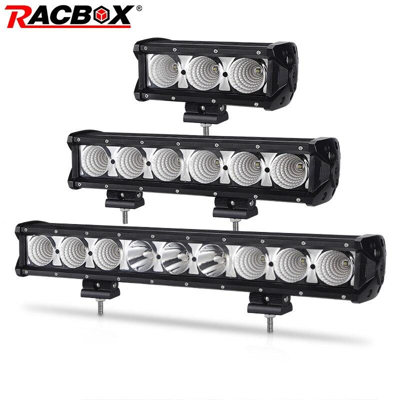 Single Row Led Light Bar 8 14 20 27 34 40 Inch Led Driving Work Barra Lights Offroad For UAZ ATV SUV Truck 4x4 Off Road 12V 24V