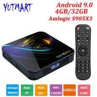 Android 9 0 TV BOX 4GB RAM 32GB Smart Media Player Amlogic S905X3 Quad Core  USD3 0 BT4 2 4K WIFI Google Player Youtube S10 MAX+