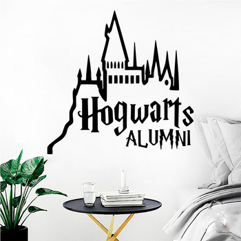 Harry Hogwarts Castle Vinyl Wall stickers For Home Decor For Nursery Kids Room Living Room Decoration Mural Art Potter Wallpaper