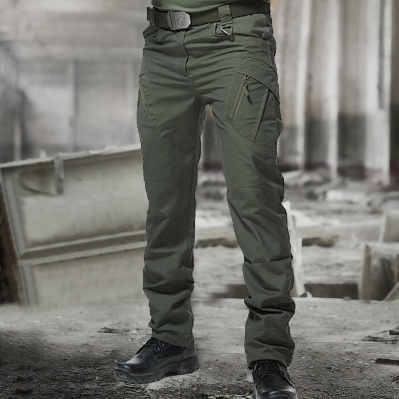 Для мужчин s камуфляжные брюки-карго с эластичной резинкой с несколькими карманами военные мужские брюки для отдыха на природе, для бега Шта...