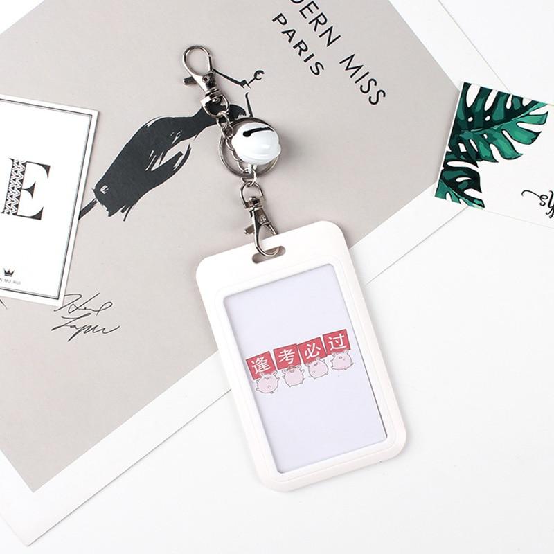 1 PC Bank Credit Card Holder Bus ID Cards Holders Women Men Fashion Card Bags Keychain Cute Cartoon Card Case Key Chain Ring (2)