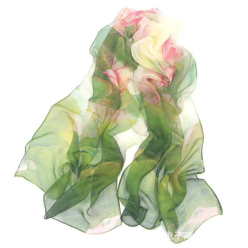 New Arrival 2020 Spring And Autumn Chiffon Women Scarf SILK SCARF Geometric Pattern Design Long Soft