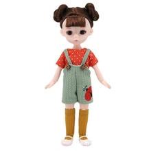 30cm Dress Up Bjd Doll 1/6 Fat Princess Dress Set 3D Eyes 13 Movable Joints Fashion DIY Girl Toy Doll Christmas Gift Decoration