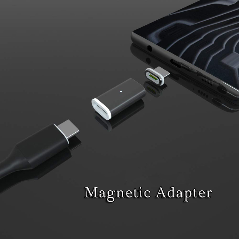 Magnetic Adapter For IPhone 11 Pro Max XR XS USB Charger Android Type C Micro USB 2.0 Fast Charging Charger Adapter