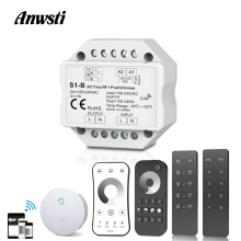 220V Triac Dimmer RF2.4G Wireless Remote Control Push Switch LED Bulb Lamp AC 110V 230V 220V Smart Wifi LED Dimmer Light Switch