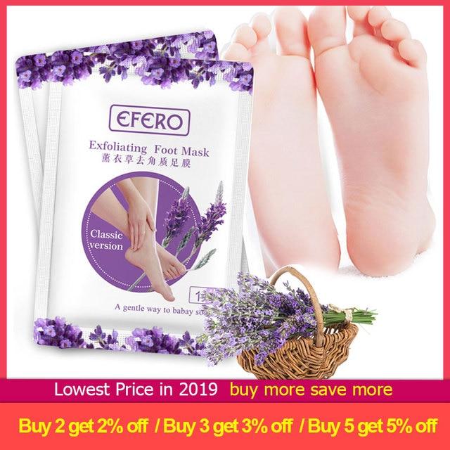 6pc=3pair Exfoliating Foot Mask Pedicure Socks Exfoliation for Feet Mask Remove Dead Skin Heels Foot Peeling Mask for Legs efero 1