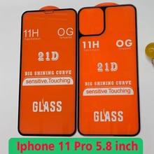 2PCS + กาวกระจกนิรภัยสำหรับ Iphone 11 11Pro ป้องกันหน้าจอป้องกันฟิล์มสำหรับ Iphone 11 pro 11Pro Max Glaas