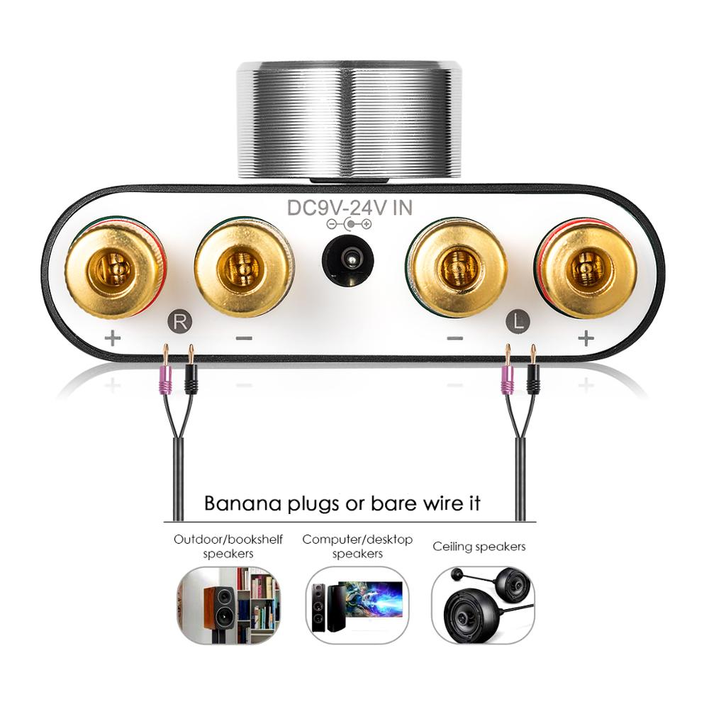 2020 Nobsound Mini Bluetooth 5.0 Digital Amplifier Hifi Stereo Wireless Audio Receiver Power Amp 50W+50W Car Sound Amplifiers 4