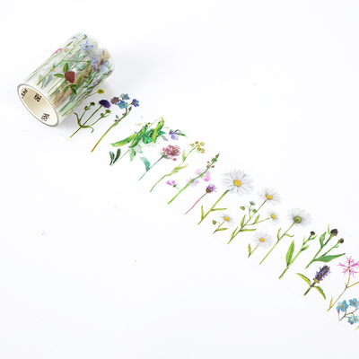 60mm Wide Retro Flower Branch Green Plant Leaves Decoration Washi Tape DIY Planner Diary Scrapbooking Masking Tape Escolar