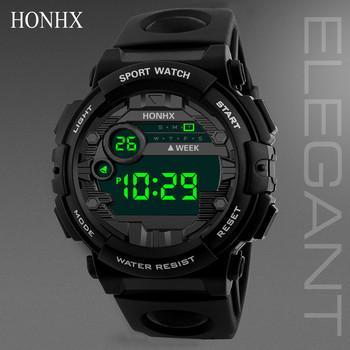 Luksusowy męski cyfrowy zegarek Led Sport mężczyźni Outdoor data zegarki elektroniczne wodoodporny zegarek na rękę zegar męski Montre Homme tanie i dobre opinie WHooHoo Akrylowe 24 6cm 3Bar Bransoletka zapięcie ROUND 20mm 16mm Podświetlenie Wyświetlacz LED Brak Alarm Nie pakiet