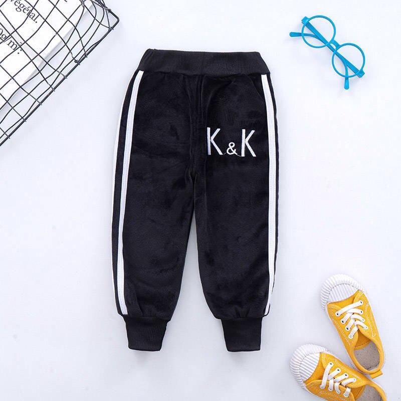 VFOCHI Boy Girls Pencil Pants Autumn Velvet Pants Stretch Waist Kids Pants Warm Children Trousers Baby Girls Boy Sports Pants 5