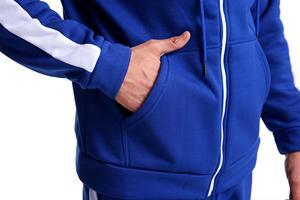 Image 5 - 2019 yeni marka eşofman moda JORDAN 23 erkekler spor iki parçalı setleri tüm pamuk fermuar spor hoodie + pantolon spor takım elbise Mal