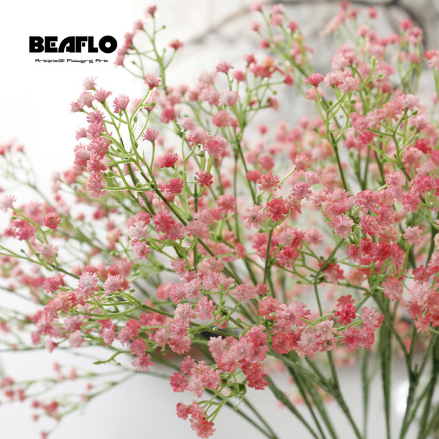 1pc Artificial Baby's Breath Flower Gypsophila Fake Silicone plant for Wedding Home Hotel Party Decoration 5 Colors 2