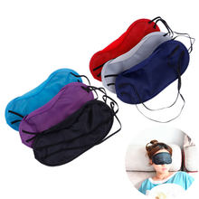 10Pcs Breathable Polyester Eyeshade Sleeping Eye Mask Portable Travel Sleep Rest Aid Eye Mask Cover Eye Patch Sleep Mask(China)