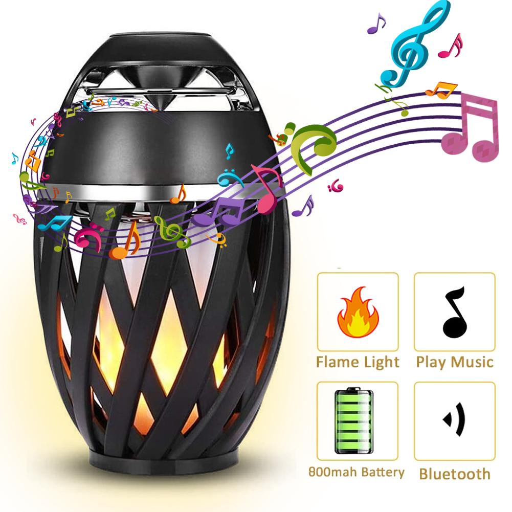 2020 New LED Flame Bluetooth Speakers LED Flickering Flame Atmosphere Light With Bluetooth Portable HD Audio Speaker