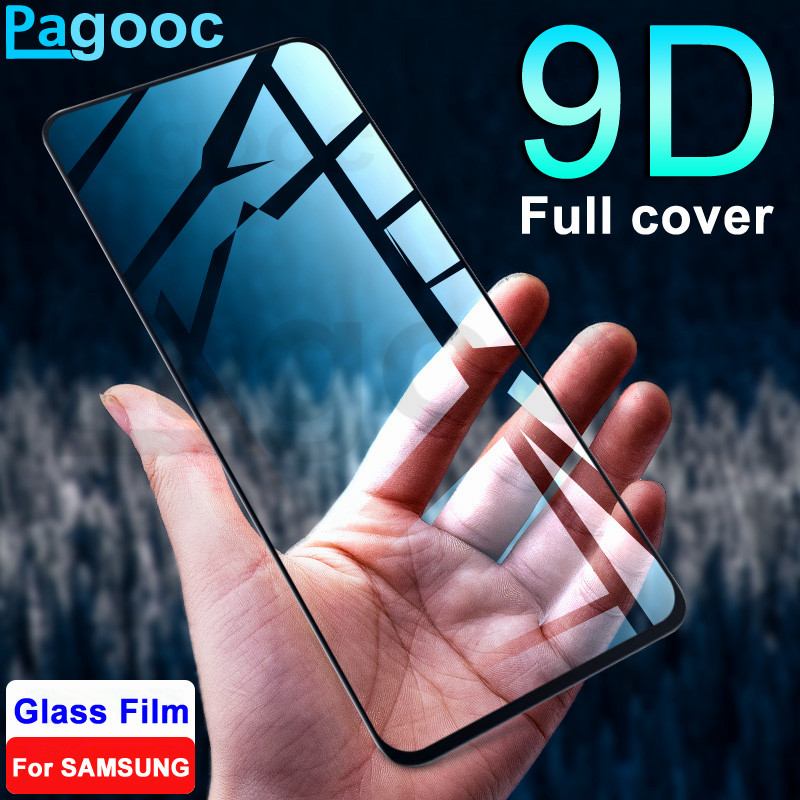 9D Protective Tempered Glass On For Samsung Galaxy A50 A30 A20 A10 A20E A40S A40 A60 A70 A80 A90 Protection Safety Glass Film