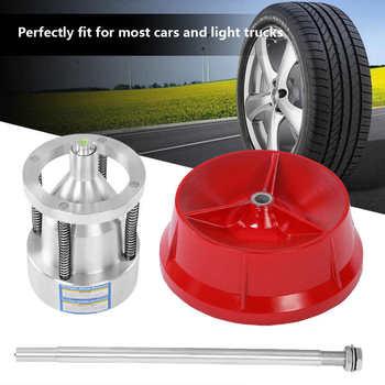 Rueda con buje portátil para camión, equilibrador de neumáticos, nivel de burbuja, Borde resistente