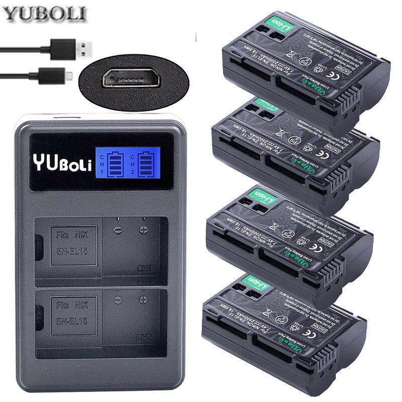 EN-EL15 Digital Batteries EN EL15 ENEL15 Camera Battery Pack For Nikon D600 D610 D600E D800 D800E D810 D7000 D7100 D750 V1 MH-25