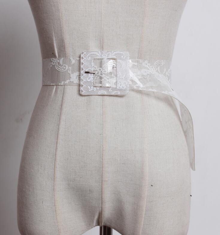 Women's Runway Fashion PVC Cummerbunds Female Dress Coat Corsets Waistband Belts Decoration Wide Belt R1809