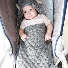 Sac de couchage pour bébé, poussette d'hiver coupe-vent épais, enveloppes cocon pour nouveau-nés