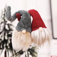 Рождественские куклы Санта Клауса, подвесные плюшевые игрушки для детей, рождественская елка, подвесные украшения для дома, праздника, вечеринки, Brinquedos