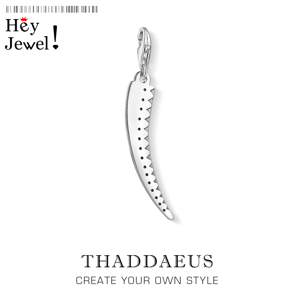 Tooth Charms Pendant Fashion Jewelry For Women Men Vintage Gift Thomas Traditional Decorations Charm 925 Sterling Silver