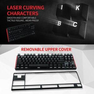 Image 2 - HEXGEARS GK707 87 Key Gamer Mechanical Keyboard Kailh BOX Switch Hot Swap Anti Ghosting White LOL Gaming Keyboard For PC/Mac/Lap