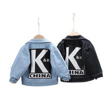 Jeans Coat Denim Jacket Outerwear Fashionchildren Girl Baby-Boy Autumn Kids New Hole