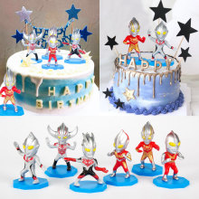 Superhero Model-Figure Action-Toys Cake-Decoration Children Cartoon for 6pcs/Lot Gifts
