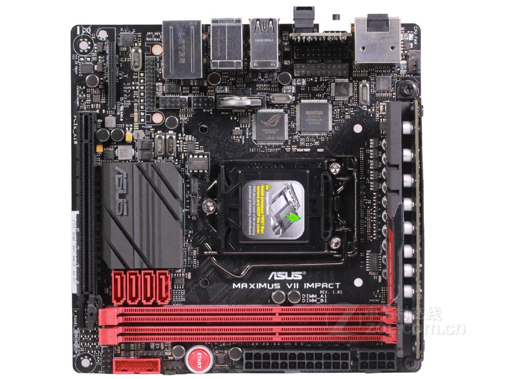 Free Shipping Original Motherboard For ASUS MAXIMUS VII IMPACT DDR3 LGA 1150 USB3.0 USB2.0 16GB M.2 Desktop Motherborad