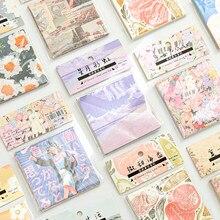 60 folhas/lote Memo Pads Sticky Notes Fresco e bonito Papel retro diário Etiquetas Scrapbooking Escola Escritório papelaria Notepad