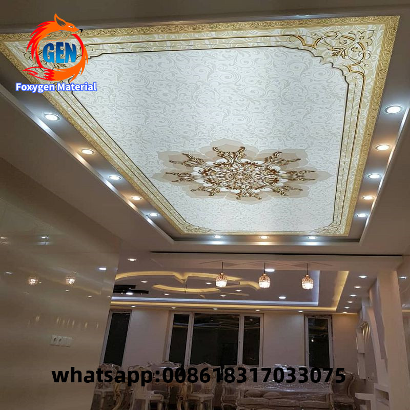Decorative Material False Roof Ceiling Design Hot Selling 3D DIY PVC Stretch Ceiling Film