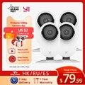 YI 4 шт. домашняя камера, 1080p Wi-Fi IP система видеонаблюдения с ночным видением, детский монитор на iOS, Android App