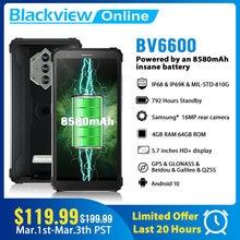Blackview yeni BV6600 Octa çekirdek 4GB + 64GB IP68 su geçirmez 8580mAh güçlendirilmiş akıllı telefon 5.7