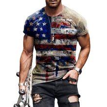 2021 men tshirt big size Summer Fashion 3D National flag Printed Casual shirt man Personalized short sleeve