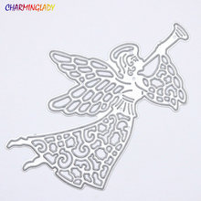 2017 cutting dies metal Christmas gifts metal dies cutting Stencils Angel for scrapbooking DIY Paper Cards Decoration(China)