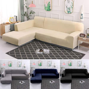 Sofa-Covers Chaise Elastic-Corner Living-Room L-Shaped Plush Modern for Longue General-Towel
