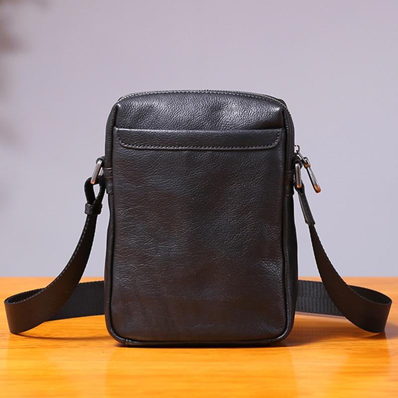 AETOO Single shoulder bag male leather casual vertical small bag handmade retro head cowhide men's small satchel