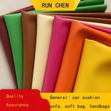 Cushion Fabric DIY Sofa Car-Mat Soft-Package-Bag Litchi-Grain Manual