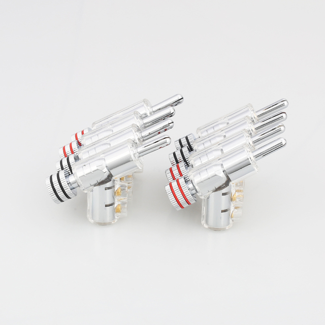 New Hi-End Rhodium Plated LOCK SPEAKER CABLE BANANA PLUG CONNECTOR ,100% high quality 4