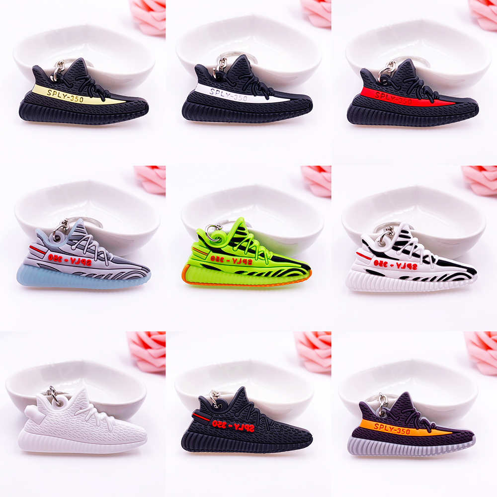 Mini Luxury Brand Silicone SPLY-350 V2 Shoes Keychain Woman Men Kids Key Ring Gift Porte Clef Sneaker Key Chain