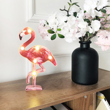 Fashion New Design Flamingo LED Light Romantic Night  Table For Bedroom Tabletop Decoration Birthday Gift D40