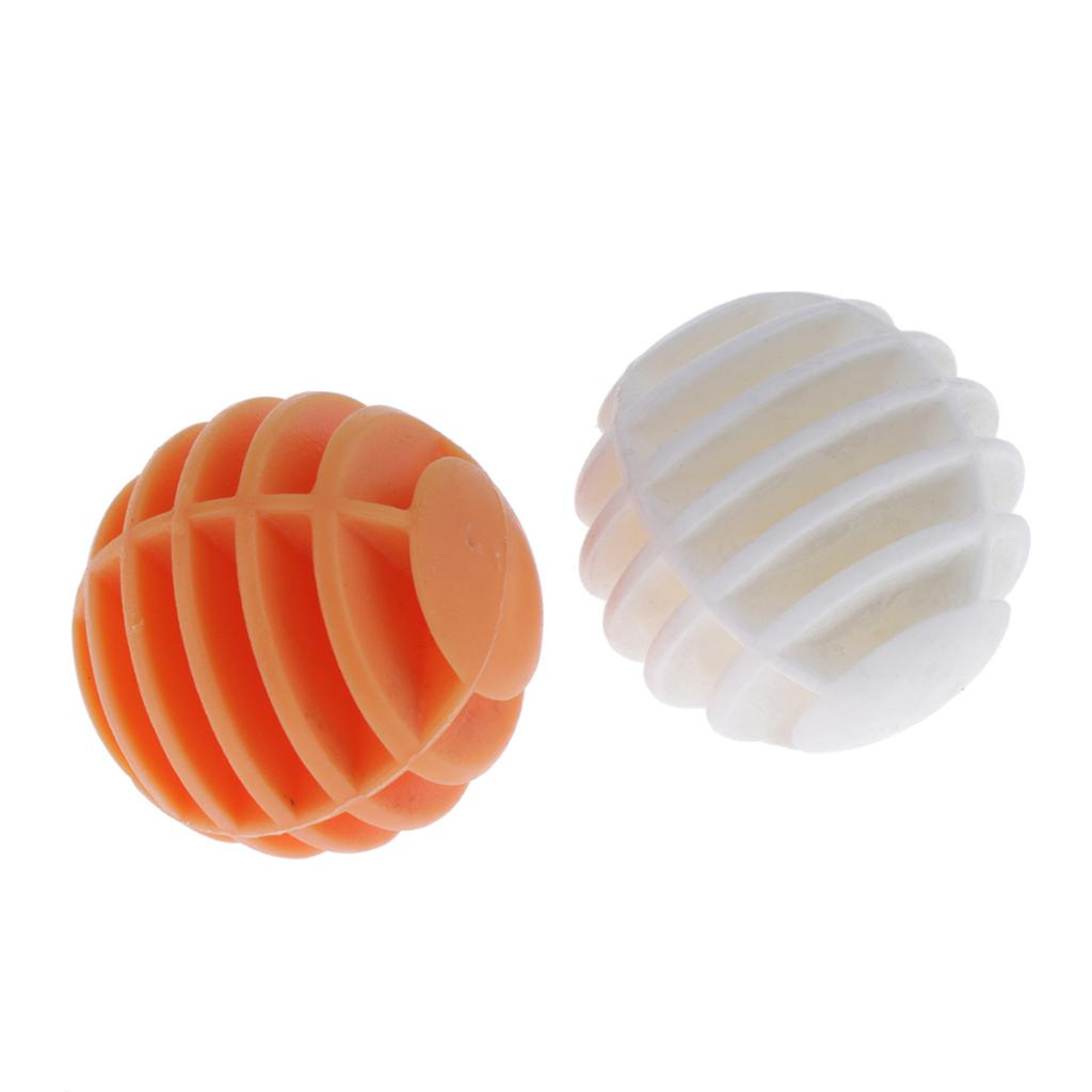 2pcs Lightweight Soft Sponge Rainbow Indoor Practice Golf Training Balls Home Office Plastic Golf Ball Golf Practice Balls