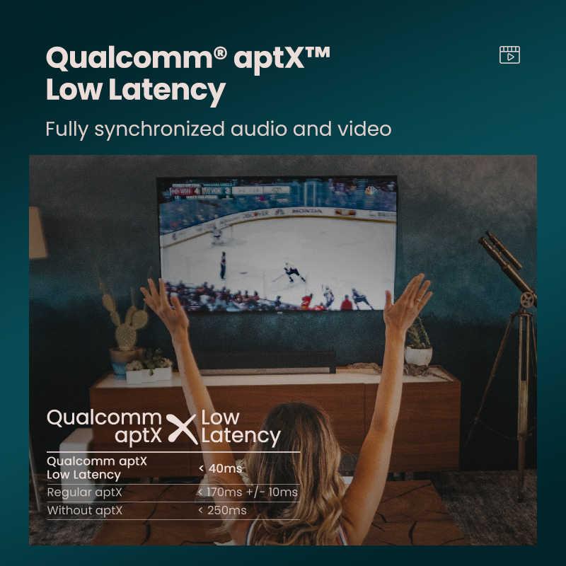 Ugreen Bluetooth 5.0 nadajnik TV słuchawki PC APTX LL cyfrowy toslink optyczny Adapter SPDIF Audio muzyka bezprzewodowy nadajnik
