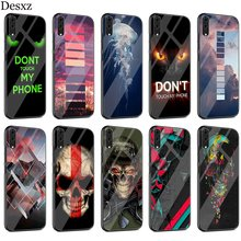 Commando Hoe Case Glass For Huawei P30 P10 P20 P Smart Mate 20 Pro Lite Y6 Y9 Honor 7A 8X 9 10 Cover(China)