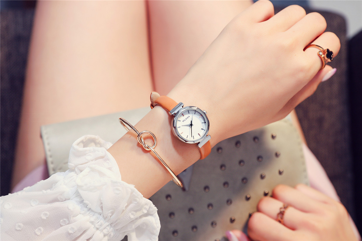 relógio feminino estudante coreano moda simples feminino