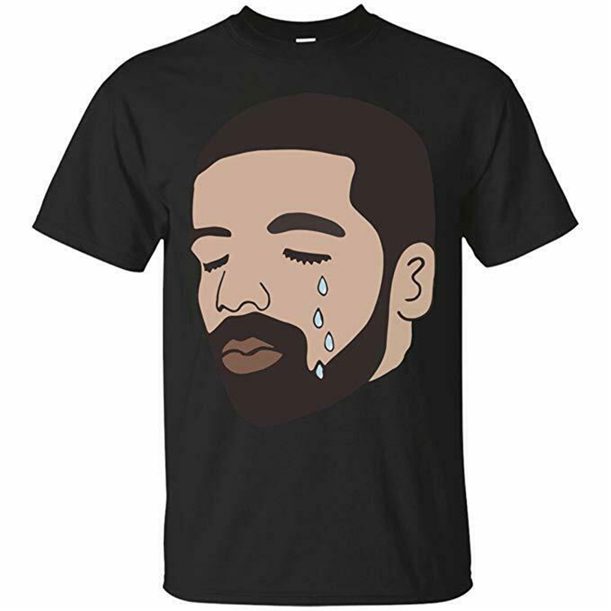 Drake Best Rap Song God'S Plan Crying Drake - T-Shirt Tee Fashion Classic Style Tee Shirt image